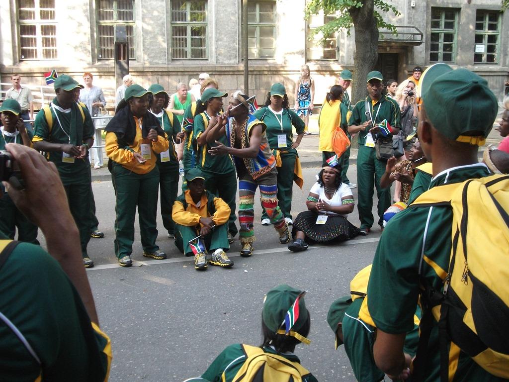 RPA podczas festiwalu sportow tradycyjnych na Litwie