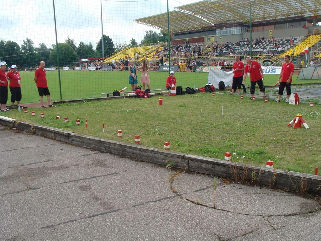Szwedzki kubb na igrzyskach na Litwie