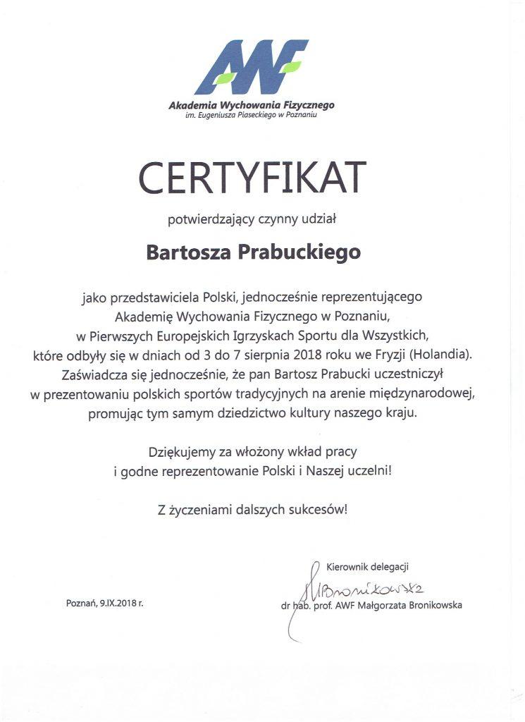 certyfikat - Holandia