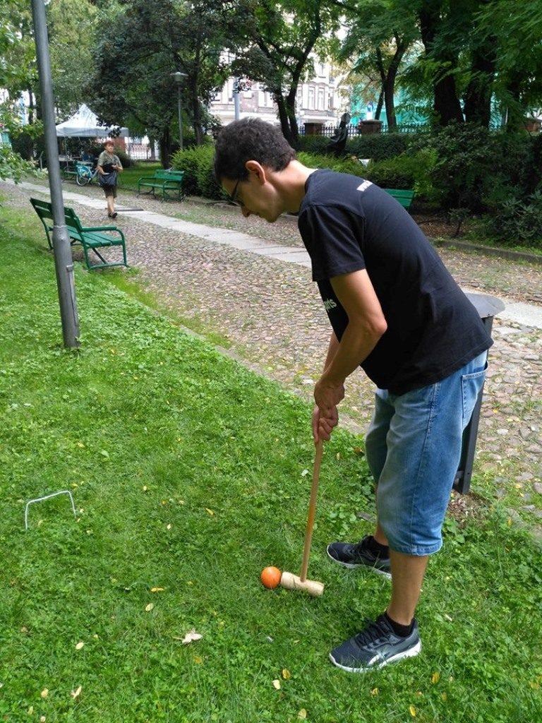 Inspirowany sportem gra w krokieta