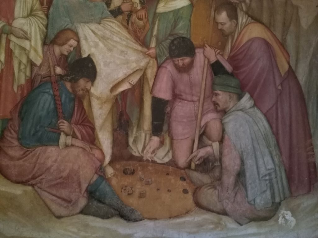 Katedra św. Antoniego - gra o szaty Chrystusa