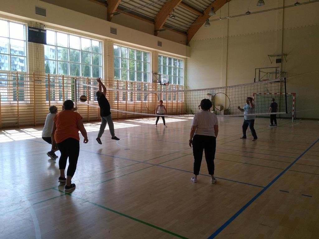 seniors playing Polish traditional sport - Netringball2
